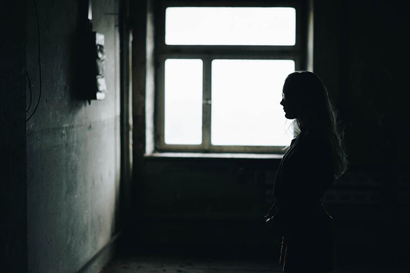 stackshot of woman in prison