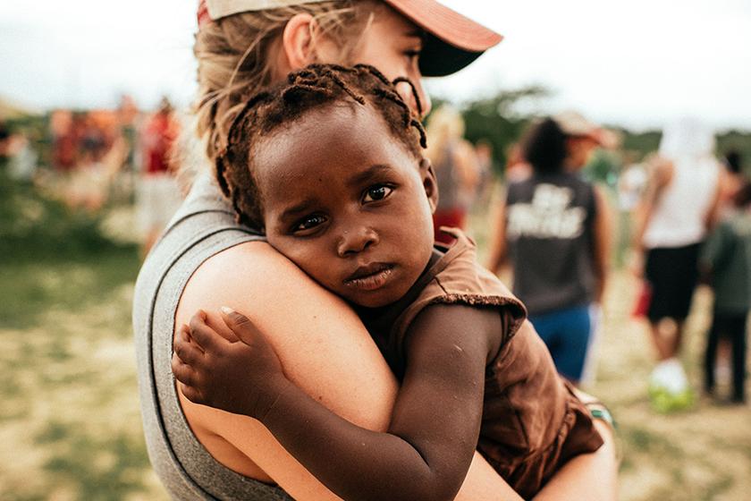 charity worker in Haiti